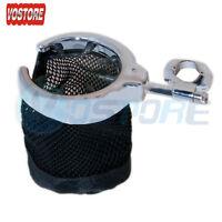 7/8 & 1 Chrome Handlebar Cup Holder Motorcycle Metal Drink Basket For Harley