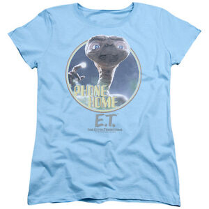 4825669da Details about E.T. ET Extra-Terrestrial Movie PHONE HOME Licensed Women's T- Shirt All Sizes