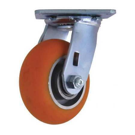 "CC APEX CDP-Z-17 Swivel Plate Caster,CC Apex,Orange5/"""