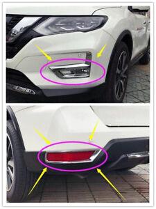Front Fog Light Lamp Bezel Cover Trim Fit Nissan Rogue X-trail 2014-2016 New ha