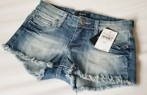 a85913604a New STS BLUE Women's FRAYED HEM Dark Blue Denim Shorts Size 0 | eBay