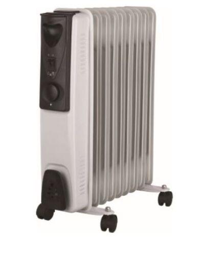 NEUF J-Home 9 fin blanc bain d/'huile radiateur électrique 2000 W 3 réglages de chaleur WH