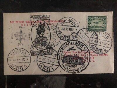 Süd- & Mittelamerika KöStlich 1932 Latacunga Ecuador Erstflug Abdeckung Ffc Zu Quito Via Cuenca Stempel Fehler Neue Sorten Werden Nacheinander Vorgestellt