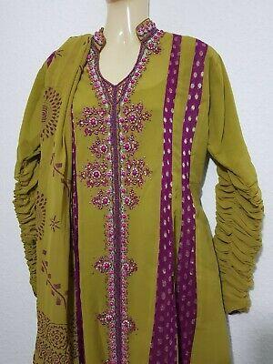 3 Pezzi Outfit India Pakistan Anarkali Dupatta Da Sera Abito Da Sera Party Taglia M-mostra Il Titolo Originale Elaborato Finemente