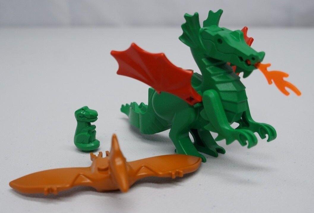 Authentic LEGO Lot Green Castle Dragon Bird Mini Dragon 6 Pieces