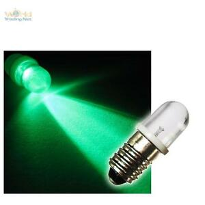 e10 vite base lampadina led verde 12v e-10 lampada luce lampadine 12