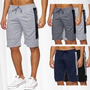 Herren-Sweat-Shorts-Jogging-Sport-kurze-Hose-Jogginghose-Baumwolle-Sommershorts