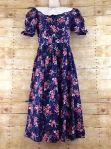 Image Is Loading Vtg Paquette Prairie Dress Womens 10 Victorian Edwardian