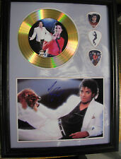 Michael Jackson Gold Look CD, Autograph & Plectrum Display - Best Price on eBay