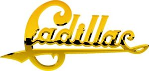 """Vintage Cadillac gold badge sticker decal 7.5""""x3.5"""""""