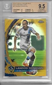 2014-Topps-Chrome-MLS-LANDON-DONOVAN-GOLD-REFRACTOR-SP-31-50-BGS-9-5-GEM-MINT