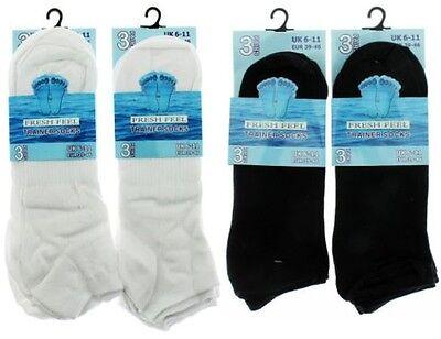 3 Pairs Men/'s Trainer Socks White Size UK 6-11 Eur 39-46 Brand New Sealed