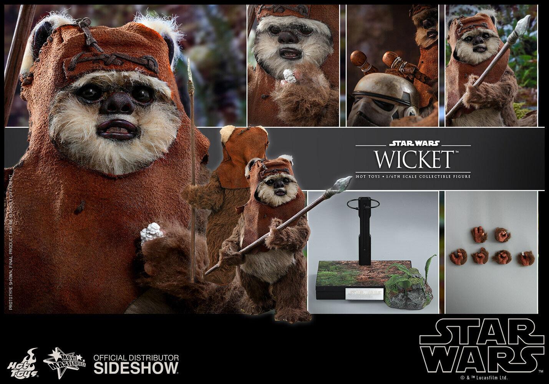Sideshow Hot Toys Star Wars Wicket Ewok 1/6 Scale Figure MMS550 ROTJ on eBay thumbnail