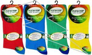 MENS REAL COMFORT EASY GRIP 100/% Non Elastic Socks Soft Grip Diabetic Adults Lot