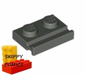 Plaque Support GRIS F//D GREY Plate 1x2 Lot x8 Lego 1x2-6000606 99780