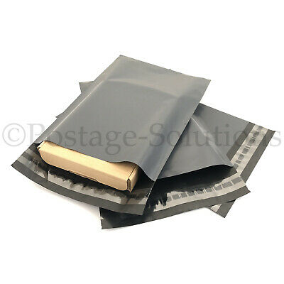 """Mixed 90 Strong Poly Mailing Postage Postal Self Seal Grey Bags 12/""""x16/""""+10/""""x14/"""""""