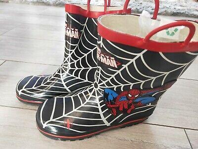 Spiderman Wellies Welly Rubber Wellington Rainy Boots Boys Girls Kids UK Stock