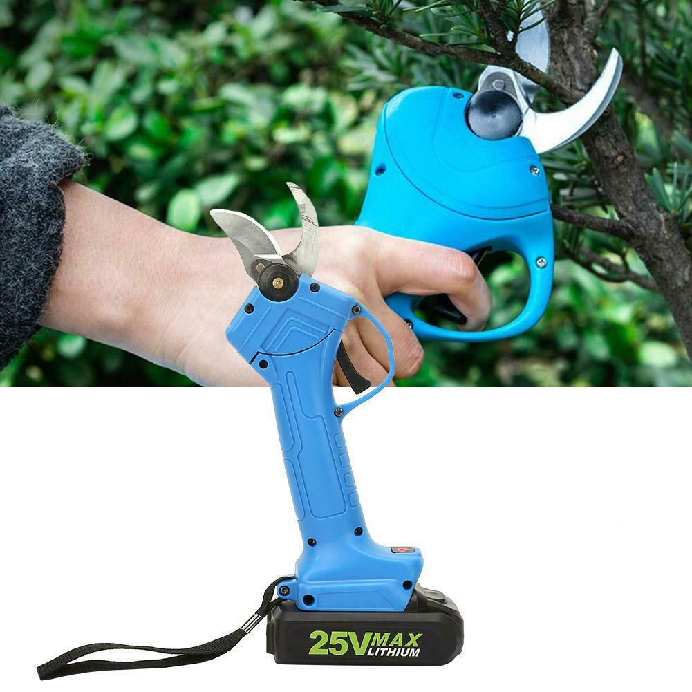 25V Li-ion Battery Cordless Secateur Branch Cutter Fruit Tree Pruning Shears NEW