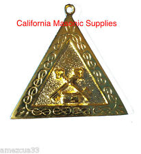 Scottish Rite Officers Jewel Master Treasurer  Golden Memphis Misraim Rite