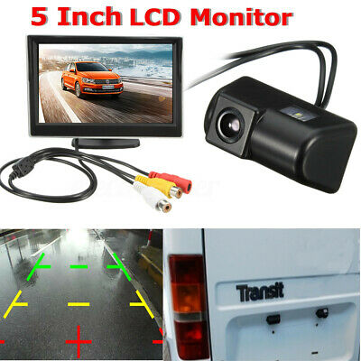 FOR FORD TRANSIT CUSTOM REVERSING REVERSE REAR CCD CAMERA KIT WITH 5/'/' SCREEN