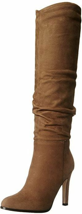 Sigerson Morrison Danice Slouchy Nubuck Leather Knee High Stiefel 10
