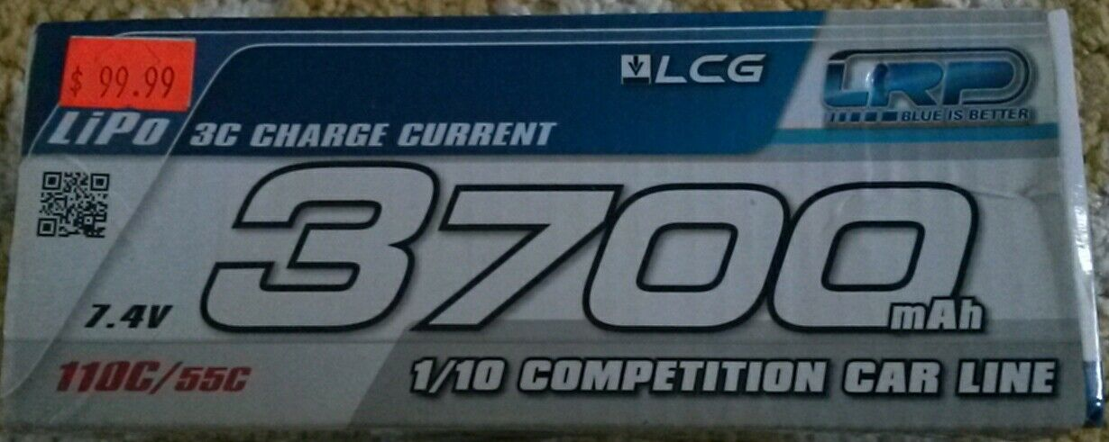 LRP LCG 3700mah 7.4v SHORTY 1 10 COMPETITION  BATTERY  tutti i beni sono speciali