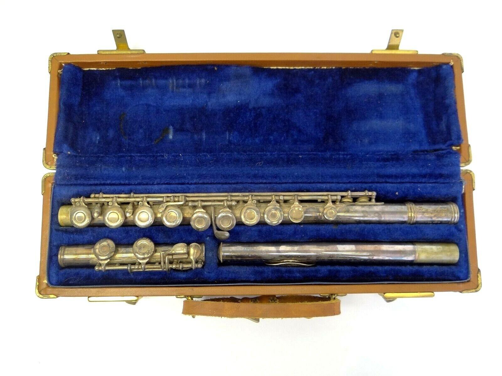 Gebraucht Gemeinhardt 240207 G 12 Elkhart Indiana Silber Flute Wind Instrument