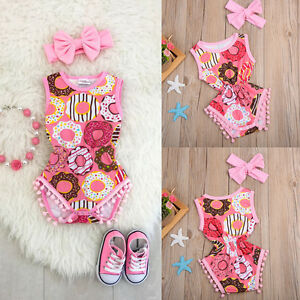 Newborn-Infant-Baby-Girls-Outfit-Clothes-Romper-Jumpsuit-Bodysuit-Headband-Set