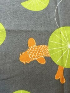 coy fish fabric rpe469 koi pond japanese koi fish water lily organic