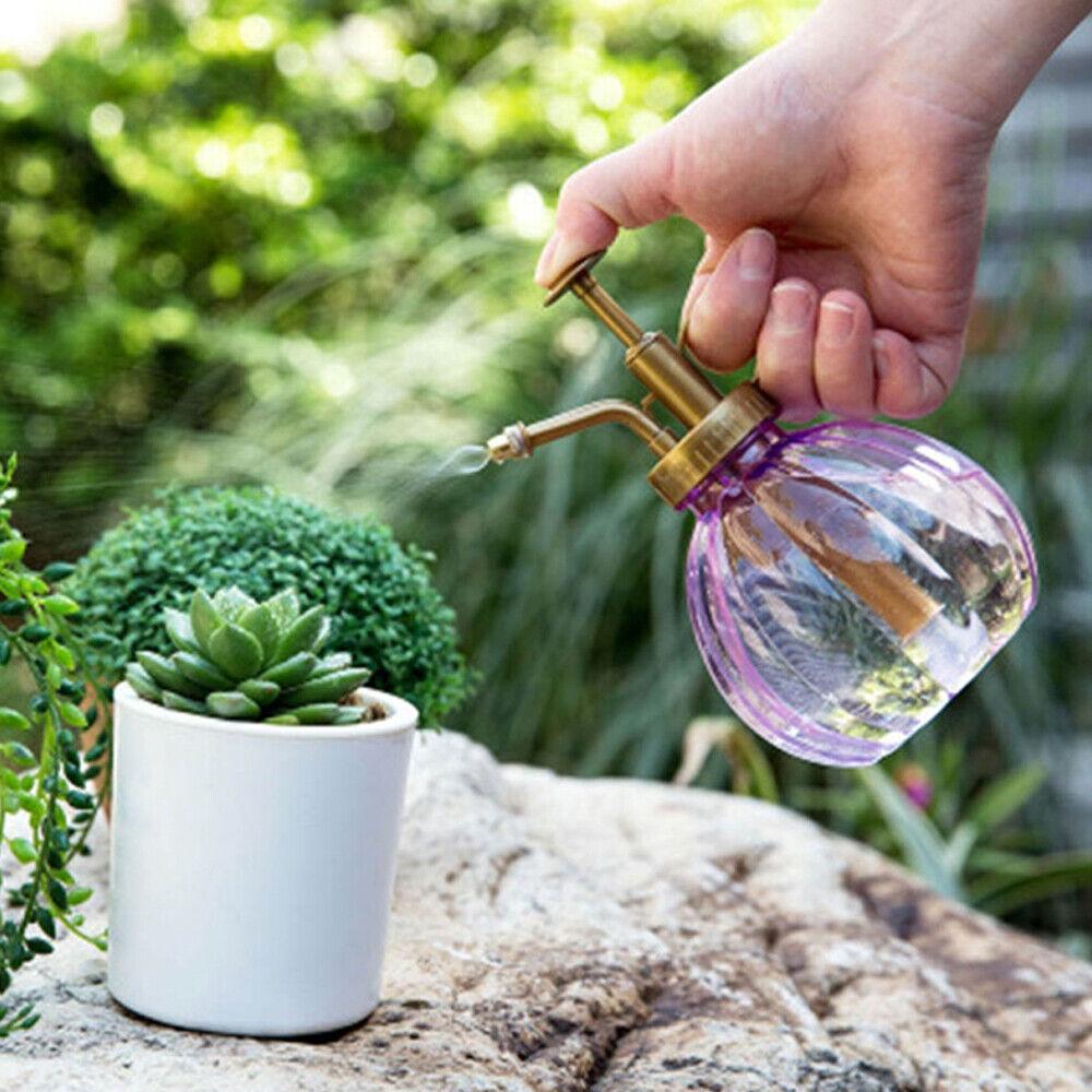 Vintage Watering Spray Bottle Plants Sprayer Handle Garden Hairdressing Tool