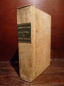 MEDICINA-Fulvio-GHERLI-Rare-Osservazioni-Medicina-e-Chirurgia-1753-Venezia