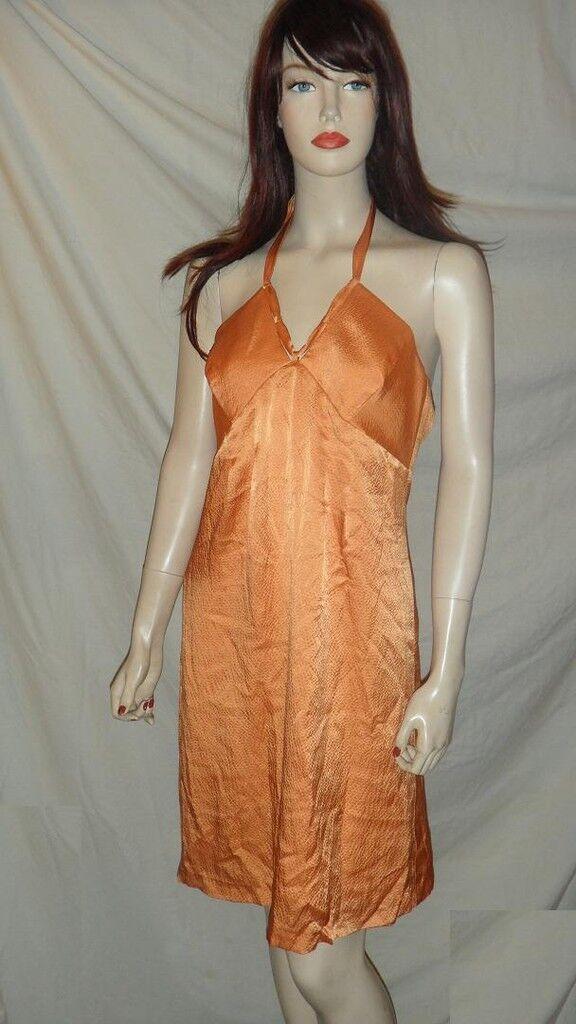 MOLLY Halter Silk Dress orange 8 123648