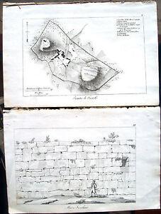 1830-PIANTA-DI-FIESOLE-E-MURA-FIESOLANE-ARCHEOLOGIA