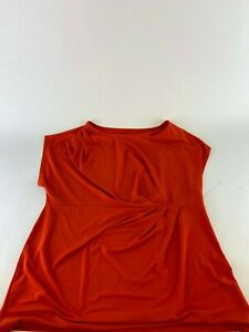 Lane-Bryant-tank-top-Red-1X-14-16-Crew-Neck-Shirt-Dress-Simply-Chic
