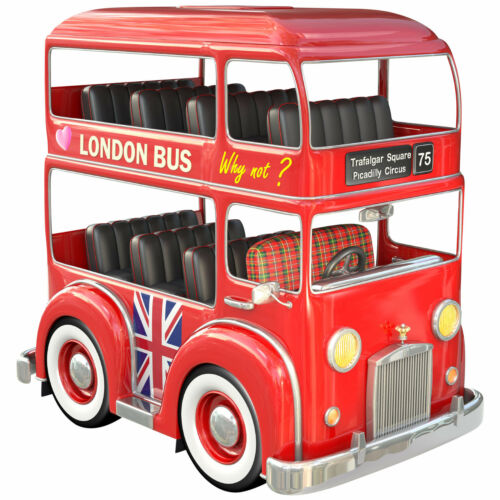 London Bus Wandtattoo Agullo