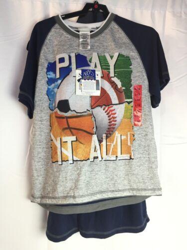 Play It All SIZE: L 14 ST EVE Boys NWT 3pc Sleep Set 1 T-shirt /&  2 Shorts