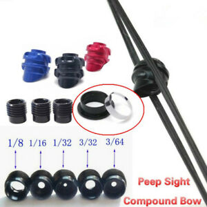 Compound-Bow-45-37-Degree-Peep-Sight-Clarifier-Lens-Inner-Core-Housing-Set-Tool