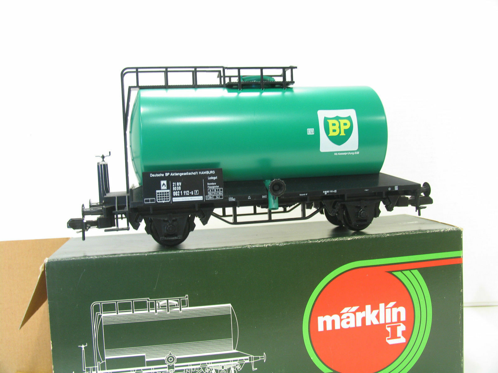 Märklin 5868 traccia 1 CAMION CISTERNA BP vagone merci carro CONFEZIONE