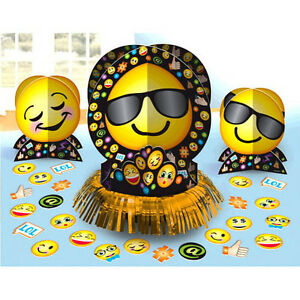 Image Is Loading EMOJI LOL TABLE DECORATING KIT 23pc Birthday Party