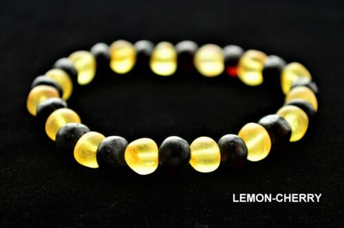 RAW Natural Baltic Amber Bracelet Anklet for Adults BQ 11-27cm 13 Colors Elastic