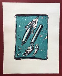 Peter Anger uomo, la scienza, farblithographie, 1990, firmata e datata