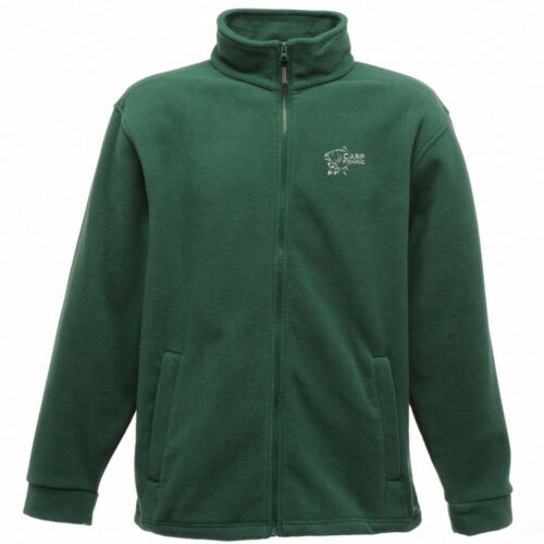 Carp Fishing Clothing Full Zip Embroidered Fleece Jacket.
