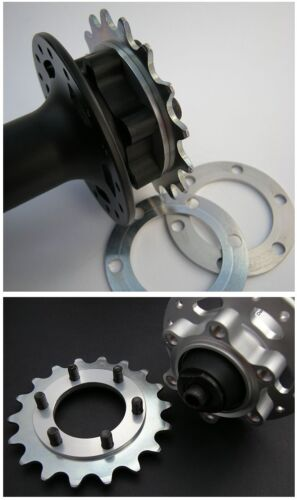 VeloSolo UK CNC 6 Bolt COG DISC BRAKE SPACER 1mm 2mm fixed adapter boost hub 148