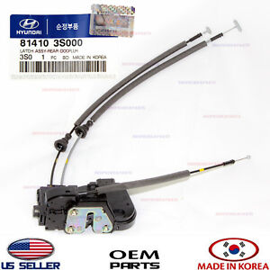 Oem Rear Door Lock Actuator Left Driver Side Genuine Hyundai Sonata 2011 2014 Ebay