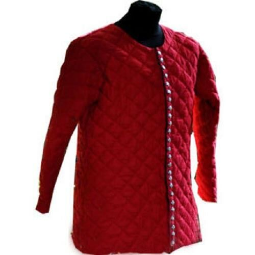 Christmas Gift Thick Padded Red Gambeson Medieval Play Theater Custome Sca