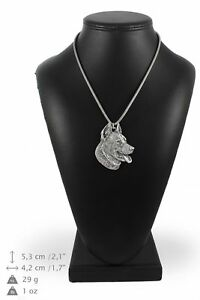 Beauceron-silver-plated-pendant-on-the-silver-chain-Art-Dog-IE