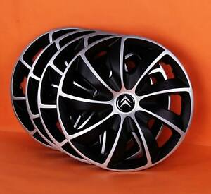 16 citroen c4 c5 etc wheel trims covers hub caps quantity 4 ebay. Black Bedroom Furniture Sets. Home Design Ideas