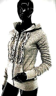 Taille S M veste Femme Gris Star Chic  Easy couture sweatshirt à capuche