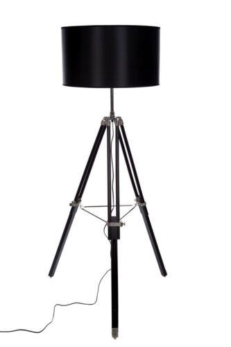 Stativlampe Stehlampe XXL Riesig Dreibein Stativ Look Style F 702 schwarz