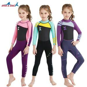 32bb37b3756a0 Children Diving 2.5mm Wetsuit Girls Warm Anti-UV Jellyfish Winter ...